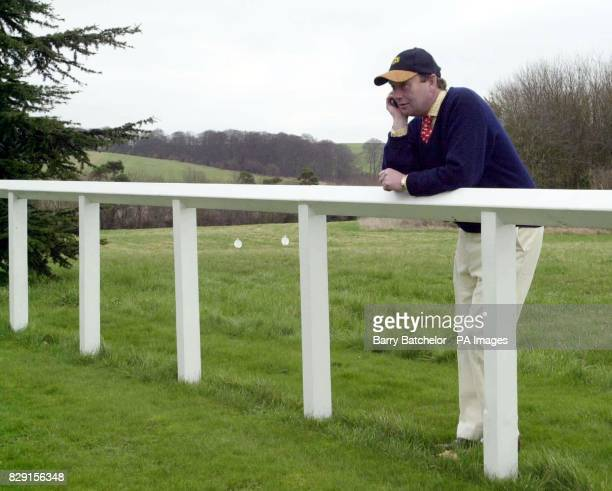 Trainer Nicky Henderson at his stables in Lambourn He has entries at the National Hunt Festival at Cheltenham
