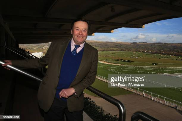 Trainer Nicky Henderson during a press conference at Cheltenham Racecourse Cheltenham