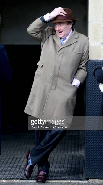 Trainer Nicky Henderson during the Greatwood Charity Raceday at Newbury Racecourse Berkshire