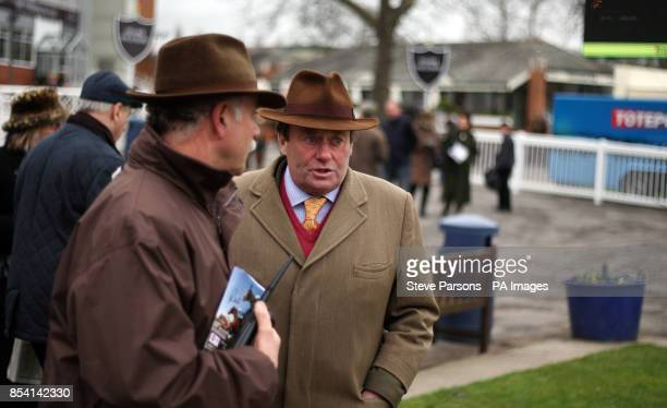 Trainer Nicky Henderson during the Mencap Charity Raceday at Newbury Racecourse Berkshire
