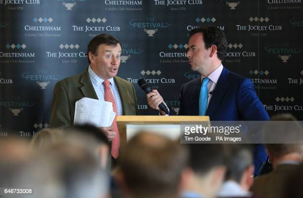 Trainer Nicky Henderson during the press conference at Cheltenham Racecourse ahead of The Festival 2017