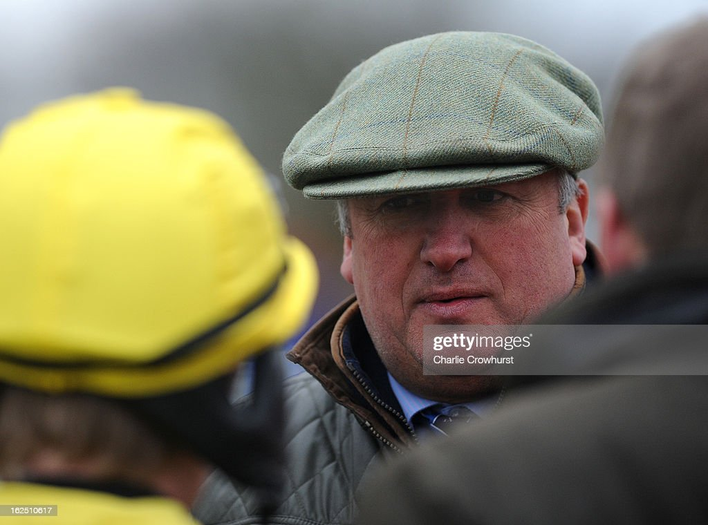 Trainer Paul Nicholls at Fontwell Park racecourse on February 24, 2013 in Fontwell, England.