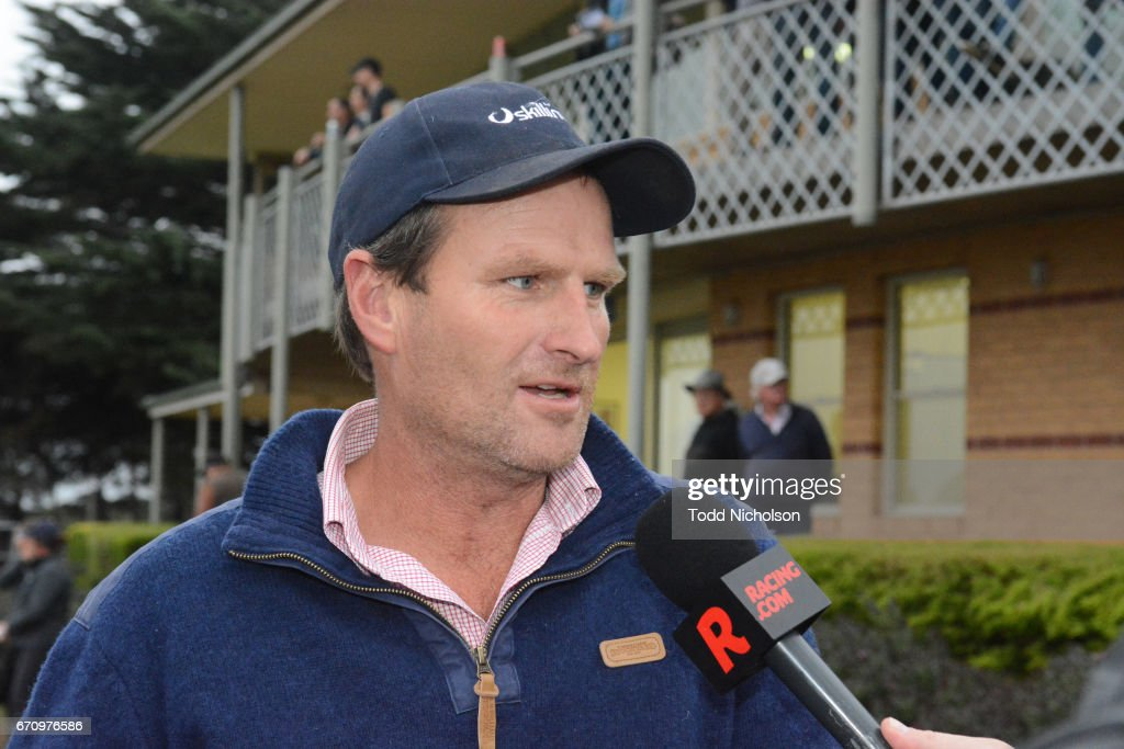 Trainer Paul Preusker after his horse Aldo's Gold won Hamilton Flooring Xtra BM58 Handicap at Hamilton Racecourse on April 21, 2017 in Hamilton, Australia.