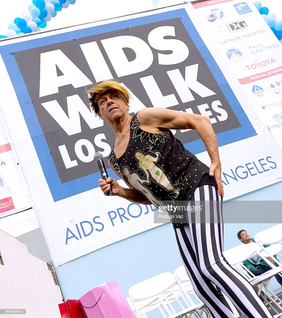 Trainer <a gi-track='captionPersonalityLinkClicked' href=/galleries/search?phrase=Richard+Simmons&family=editorial&specificpeople=228501 ng-click='$event.stopPropagation()'>Richard Simmons</a> attends the 29th Annual AIDS Walk LA on October 13, 2013 in West Hollywood, California.