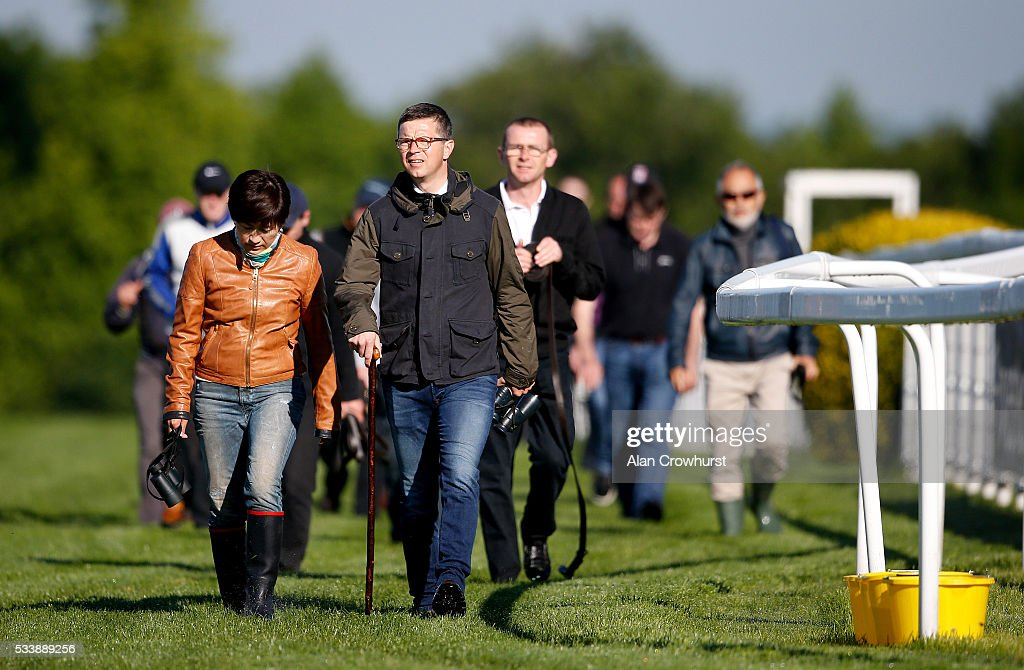 Trainer Roger Varian during the 'Breakfast with the Stars' morning at Epsom Racecourse on May 24, 2016 in Epsom, England.