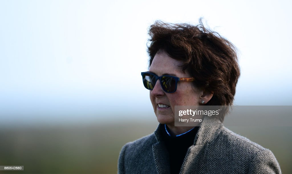 Trainer Venetia Williams at Exeter Racecourse on October 12, 2017 in Exeter, England.