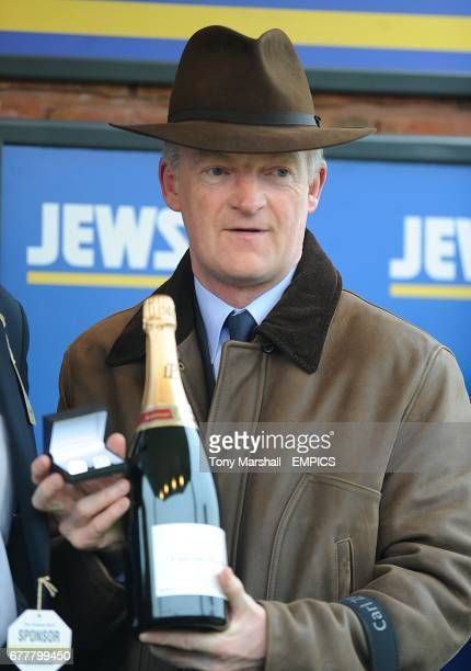 Trainer Willy Mullins after winning the Jewson Novices' Chase on St Patrick's Thursday during Cheltenham Festival