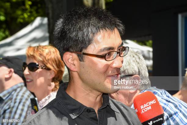 Trainer Yoshitomo Shima after his horse Beyond the Dream won the Ray White Real Estate Romsey BM64 Handicap at Kyneton Racecourse on November 08 2017...