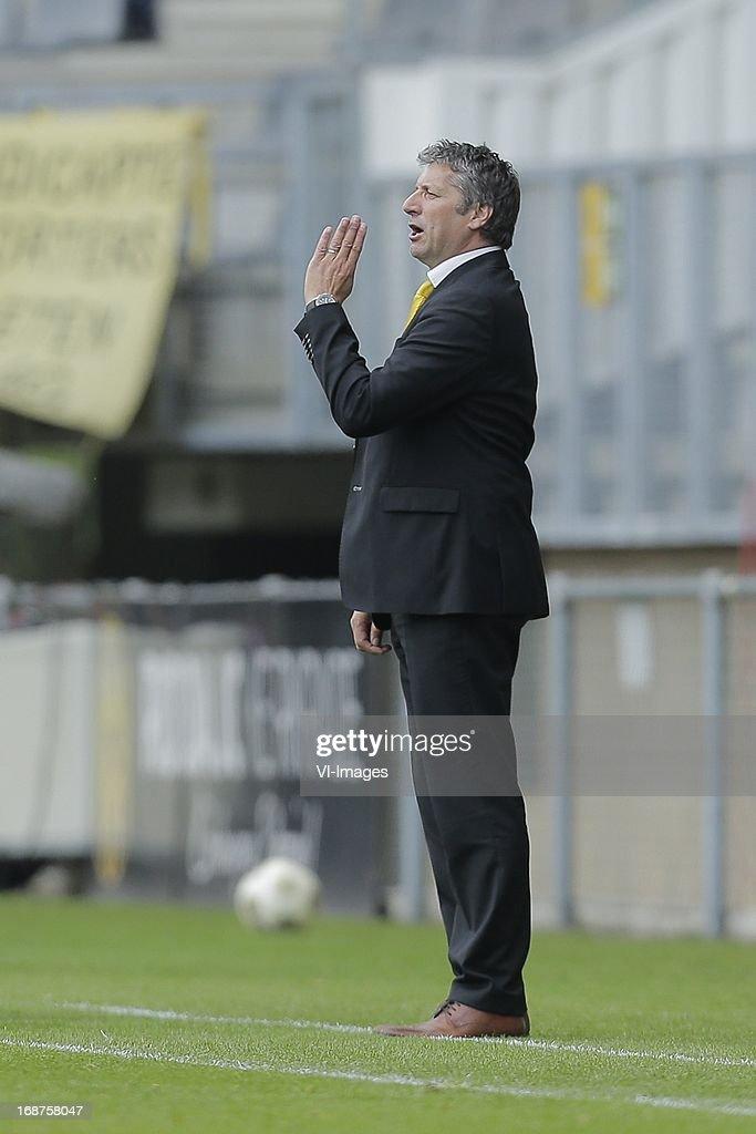 Trainer/coach Ruud Brood of Roda JC during the Dutch Eredivisie match between Roda JC Kerkrade and sc Heerenveen on May 12, 2013 at the Parkstad Limburg stadium in Kerkrade, The Netherlands.