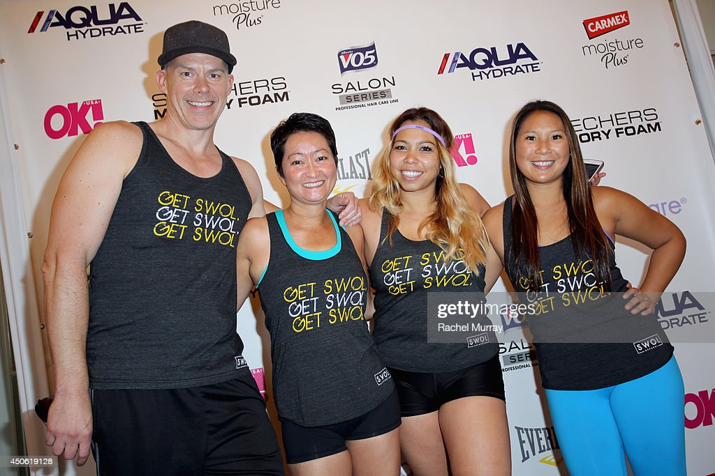 Trainers from Get Swol attend OK! Body & Soul 2014 at The Casa Del Mar Hotel on June 14, 2014 in Santa Monica, California.