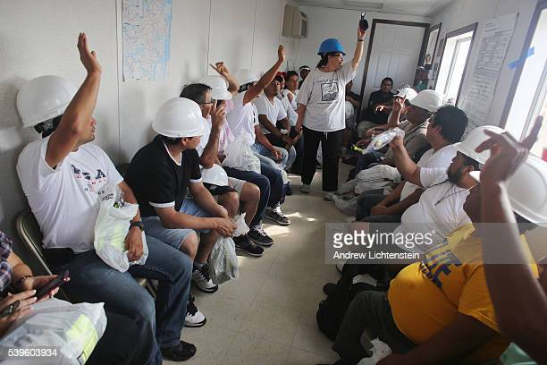 OSHA training at the Bay Parkway Job CenterDay laborers many of them undocumented have organized themselves at a job center in Brooklyn where they...