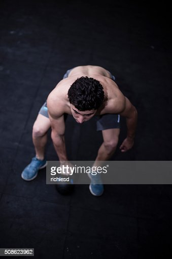 Training at the gym : Stock Photo