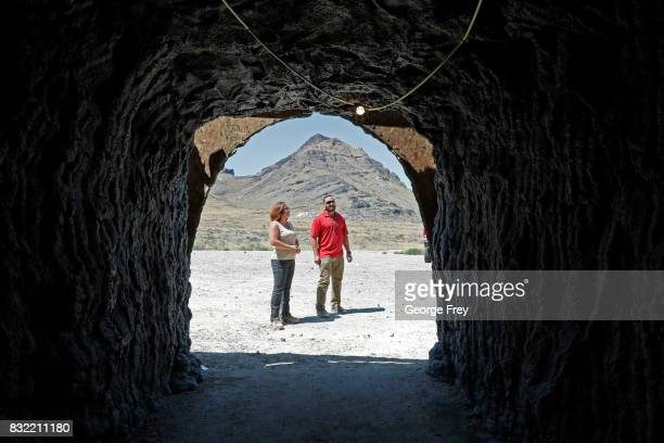 Training coordinator Jennifer Cavalli and program division chief Chris Johnson stands outside the newly created BRAUCH training facility at the US...