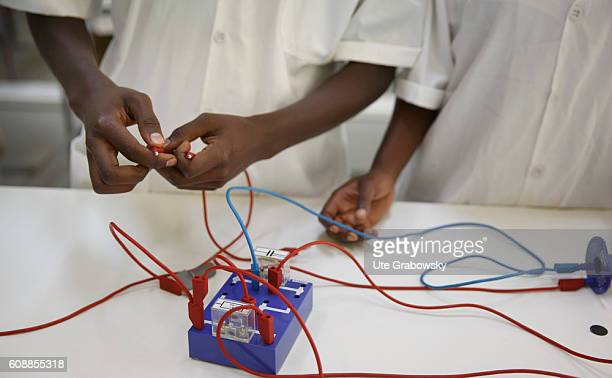 Training of mechatronic engineers in the project Integrated Polytechnic Regional Center IPRC Two apprentices working on a circuit on August 11 2016...