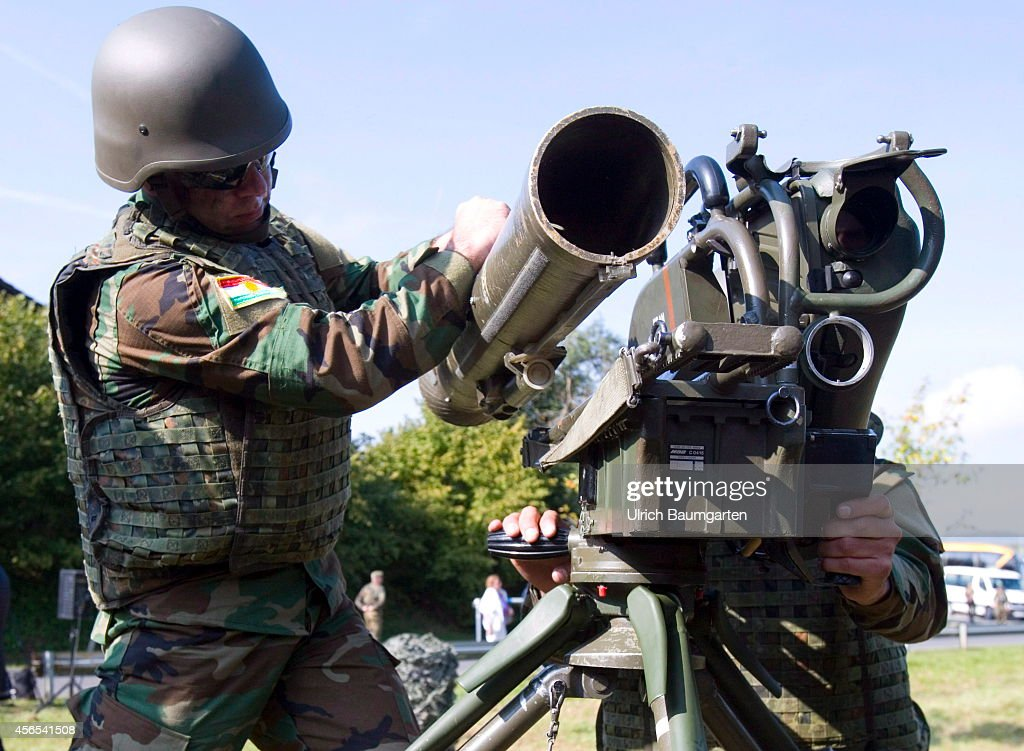 Training of Peshmerga soldiers on the antitank weapon Milan in the Infantry School Hammelburg, on October 02, 2014 in Hammelburg, Germany.