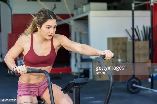 Training on exercise bike !