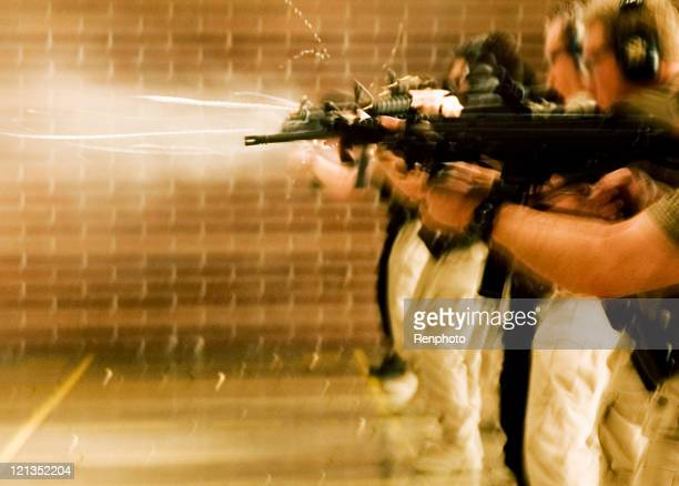 SWAT Training: shooting guns