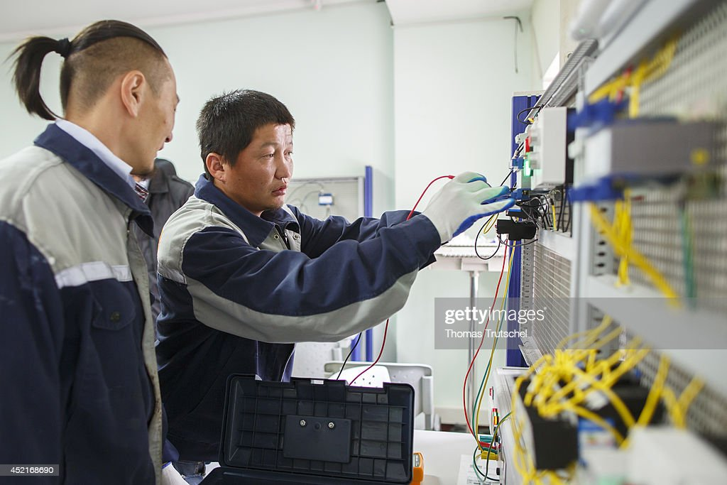 Training workshop for electrical engineers at the vocational center Hasu Megawatt on July 07, 2014, in Ulan Bator, Mongolia.
