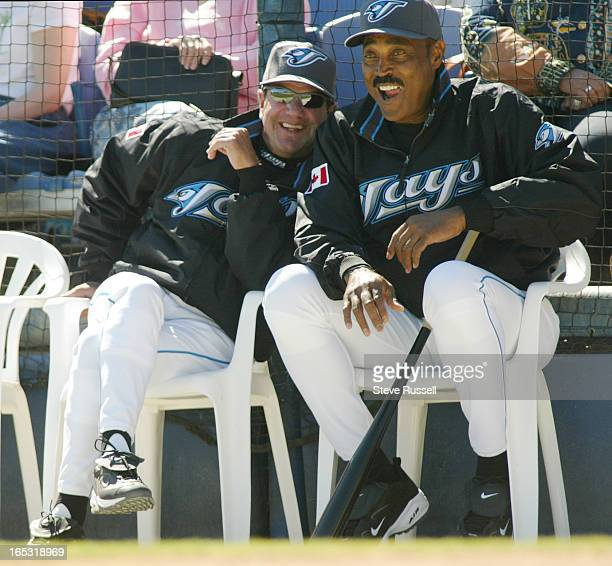 TRAINING03/10/04Carlos Tosca and Cito Gaston find something amusing as the Toronto Blue Jays split squad won their Grapefruit League game against the...