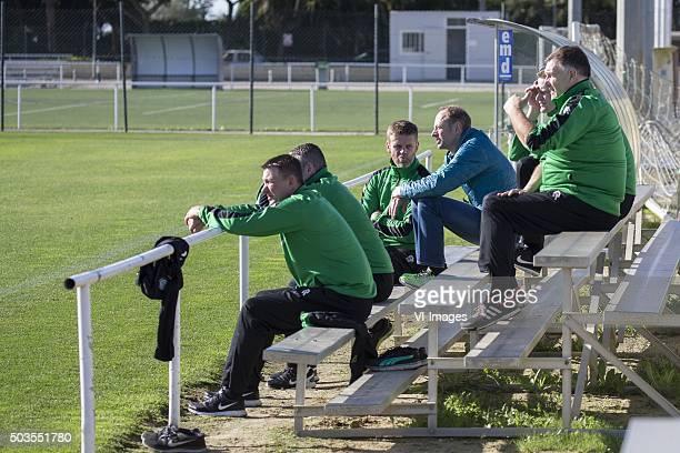 Trainingskamp FC Groningen Spanje facilitaire ondersteuning Bert de Voogd of FC Groningen teammanager Bas Roorda of FC Groningen Gerard Kemkers...
