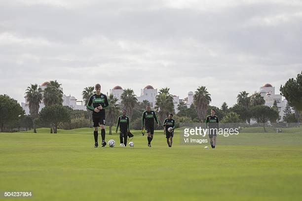 Trainingskamp FC Groningen Spanje Footgolf during the training camp of FC Groningen on January 9 2016 at Costa Ballena Spain