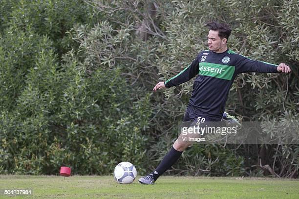 Trainingskamp FC Groningen Spanje Footgolf Keziah Veendorp of FC Groningen during the training camp of FC Groningen on January 9 2016 at Costa...