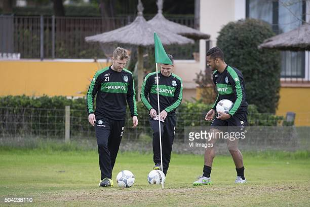 Trainingskamp FC Groningen Spanje Footgolf Rasmus Lindgren of FC Groningen Brian Linssen of FC Groningen Johan Kappelhof of FC Groningen during the...