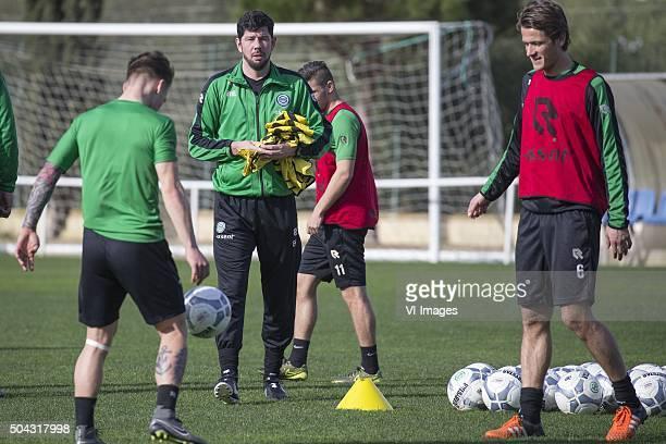 Trainingskamp FC Groningen Spanje Laatste training Albert Rusnak of FC Groningen trainer Erwin van de Looi of FC Groningen Etinne Reijnen of FC...