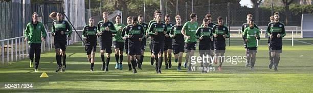 Trainingskamp FC Groningen Spanje Laatste training fysiektrainer Robbert de Groot of FC Groningen Hedwiges Maduro FC Groningen Oussama Idrissi of FC...