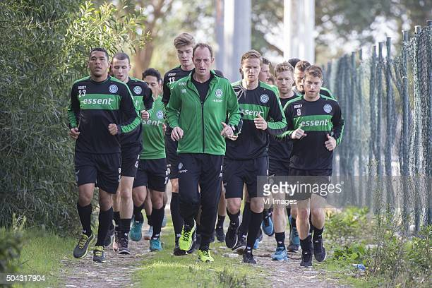 Trainingskamp FC Groningen Spanje Laatste training Hedwiges Maduro FC Groningen fysiektrainer Robbert de Groot of FC Groningen Kasper Larsen of FC...