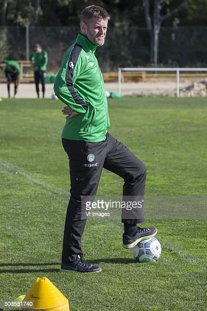Trainingskamp FC Groningen Spanje teammanager Bas Roorda of FC Groningen during the training camp of FC Groningen on January 5 2016 at Costa Ballena...