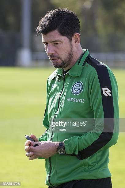 Trainingskamp FC Groningen Spanje trainer Erwin van de Looi of FC Groningen during the training camp of FC Groningen on January 5 2016 at Costa...