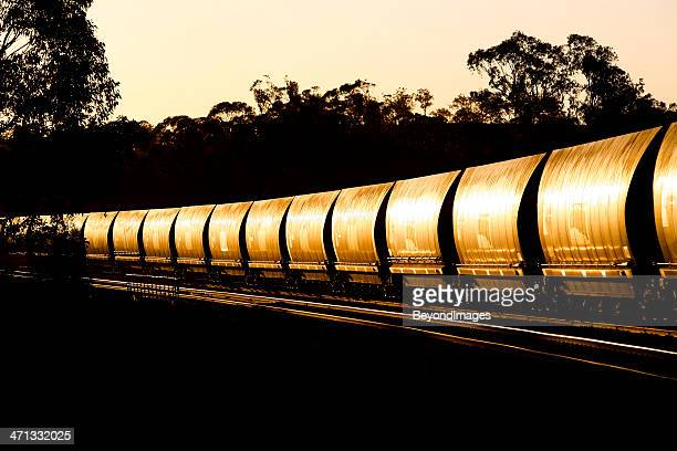 Trainload of black gold heading for port