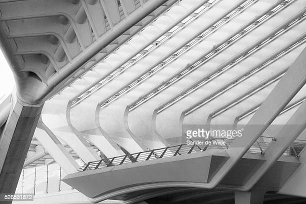 Trainstation Li��geGuillemins in Belgium Details of the architecture of this majestic trainstation Li��geGuillemins railway station is the main...