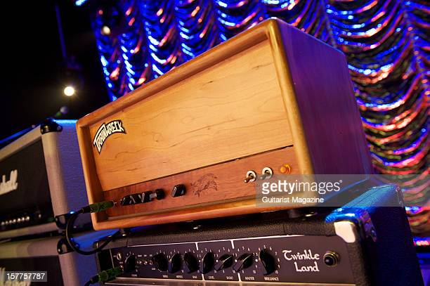 TrainWreck electric guitar amplifier head unit used by Joe Bonamassa photographed during a shoot for Guitarist Magazine March 30 2012
