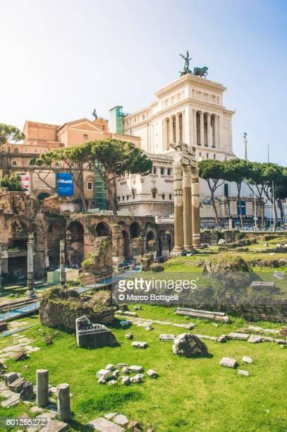 Trajan Forum and Altare della Patria. Rome, Italy