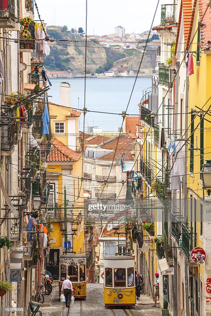 Tram, Barrio Alto, Lisbon, Portugal