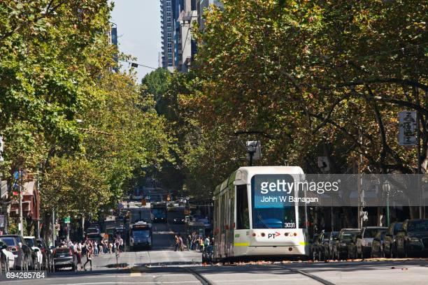 Tram, Collins Street, Melbourne, Australia