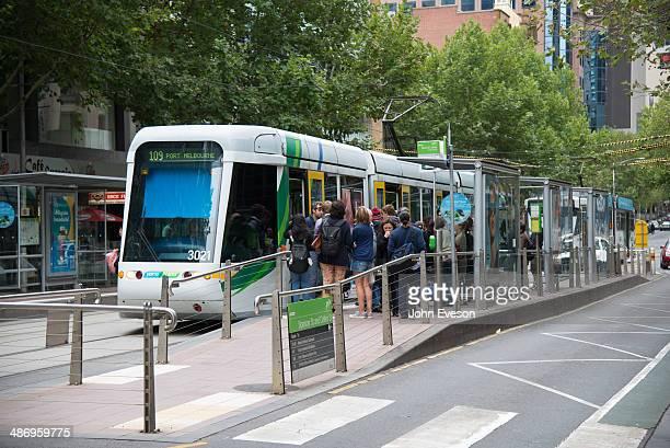 Tram in Melbourne Victoria Australia