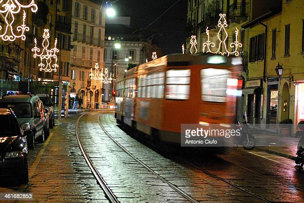 CONTENT] Tram service in a road decorated with Christmas lights Milan December 25 2009 © Antonio Ciufo