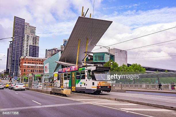 Tram Stops Outside the Convention and Exhibition Centre in Melbourne