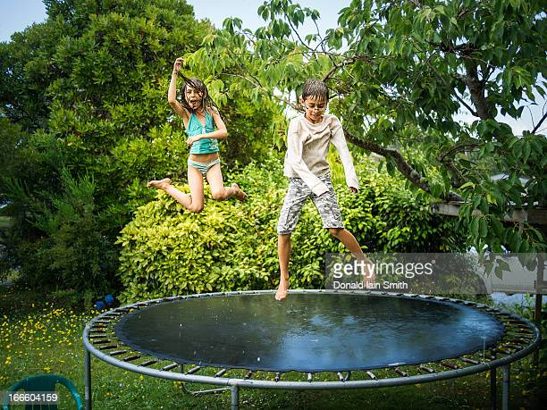 Trampoline in the Rain