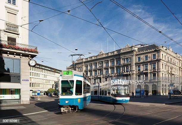 Trams at Paradeplatz