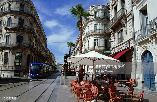 Tramway in city of Montpellier, Herault, France