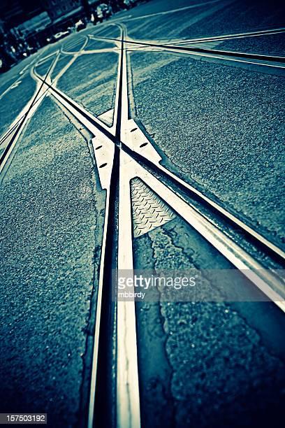 Straßenbahnstrecke-Punkte in Berlin