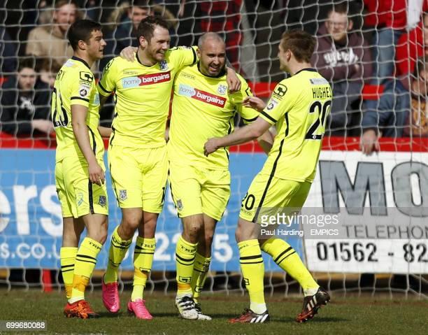 Tranmere Rovers' James Norwood celebrates scoring their first goal