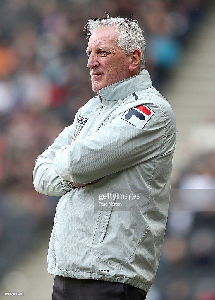 Tranmere Rovers manager Ronnie Moore looks on during the npower League One match between MK Dons and Tranmere Rovers at Stadium MK on March 16, 2013 in Milton Keynes, England.
