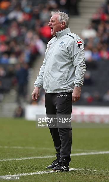 Tranmere Rovers manager Ronnie Moore looks on during the npower League One match between MK Dons and Tranmere Rovers at Stadium MK on March 16 2013...