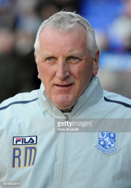 Tranmere Rovers manager Ronnie Moore looks on during the npower League One match between Tranmere Rovers and AFC Bournemouth at Prenton Park on April...