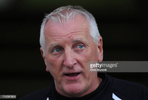 Tranmere Rovers manager Ronnie Moore looks on during the pre season friendly match between Tranmere Rovers and Burnley at Prenton Park on July 23...